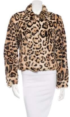 Marni Leopard Print Fur Jacket