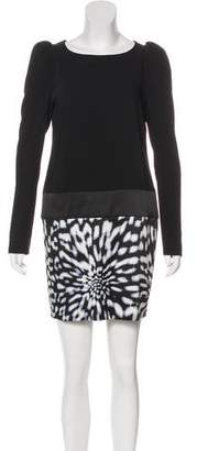 Just Cavalli Long Sleeve Mini Dress