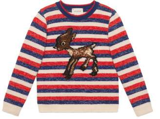 Gucci Children's fawn wool lurex sweater