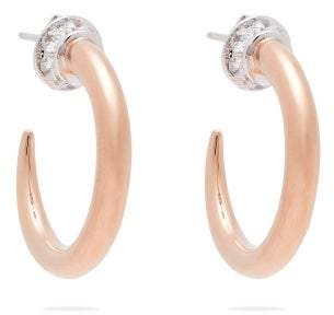 Ryan Storer - Crystal Embellished Rose Gold Tone Earrings - Womens - Rose Gold