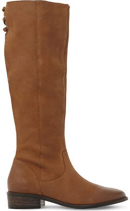 Steve Madden Ladies Brown Contrast Practical Jollie Leather Knee High Boots