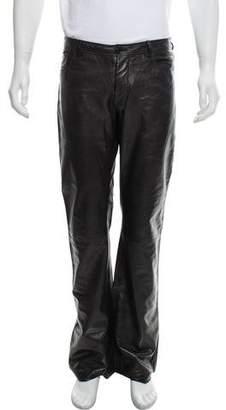 Helmut Lang Vintage Straight-Leg Leather Pants