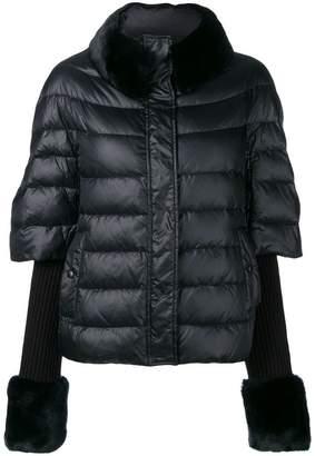 Twin-Set fur cuff puffer jacket
