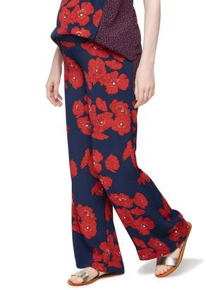 A Pea in the Pod Under Belly Printed Wide Leg Maternity Pants