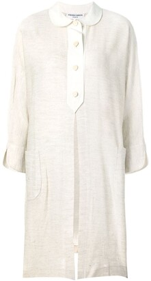 Pierre Cardin Pre-Owned front slit midi shirt