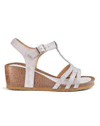 2ad82d56968a Heavenly Soles Wedge Sandals E Fit