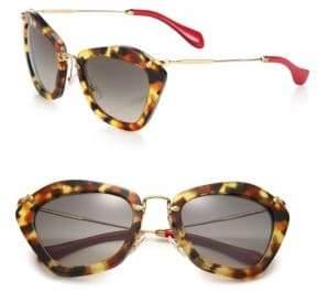 Miu Miu 55MM Modified Cat's-Eye Sunglasses
