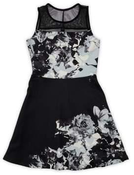 Love Ady Girls' Floral Printed Dress