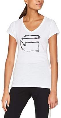 G Star Women's Monthon Slim V T Wmn S/s T-Shirt, (White 110)