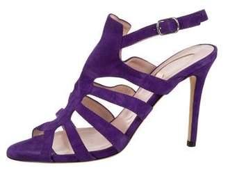 Sarah Jessica Parker Suede Caged Sandals