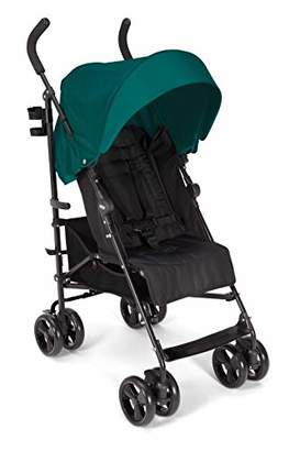 Mamas and Papas Cruise Practical Folding Pushchair Buggy with Front Suspension Wheels, Adjustable Lie Flat Seat and Large Protective Hood - Petrol