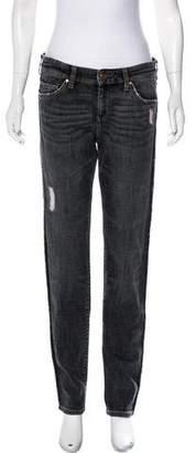 Etoile Isabel Marant Mid-Rise Straight Leg Jeans