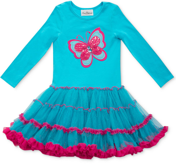 Rare Editions Little Girls' Butterfly Tutu Dress