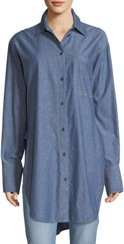 Elizabeth and James Ryder Button-Down Long-Sleeve Chambray Shirt