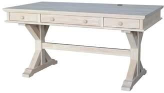 International Concepts Canyon White 3-Drawer Desk