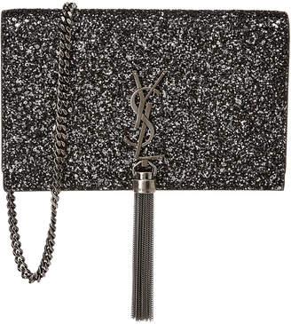 Saint Laurent Kate Glitter Shoulder Bag