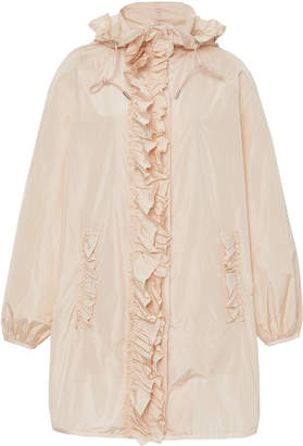 Simone Rocha Moncler Genius + Geranium Ruffled Shell Hooded Coat Size