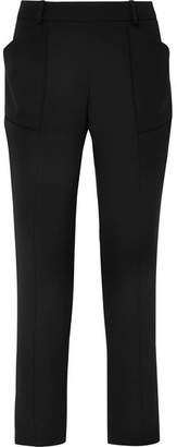 Thierry Mugler Wool-crepe Slim-leg Pants - Black