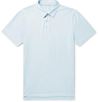 James Perse Supima Cotton-Jersey Polo Shirt - Men - Sky blue