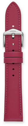 Fossil 18mm Raspberry Leather Strap