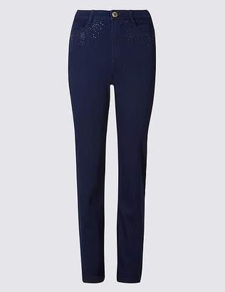 Marks and Spencer Bling Straight Leg Jeans