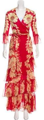 Sophie Theallet Crepe Floral Gown