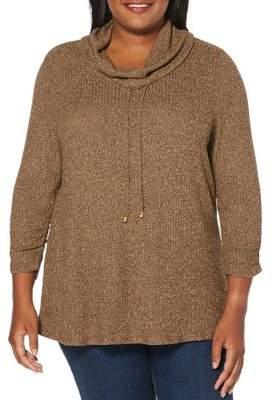 Rafaella Plus Marled Knit Sweater
