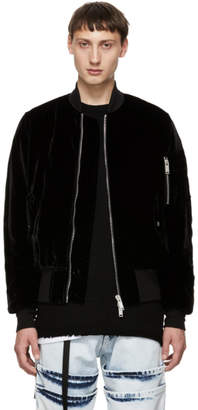 Unravel Black Velvet Basic Bomber Jacket