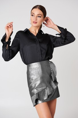 Glamorous Metallic Frill Skirt