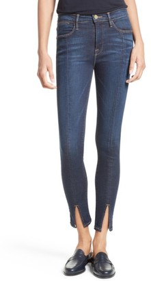 Women's Frame Le High Skinny Front Split High Waist Jeans $225 thestylecure.com