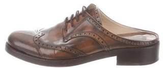 Michael Kors Leather Wingtip Mules Brown Leather Wingtip Mules