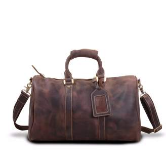 EAZO - Vintage Leather Weekend Bag in Dark Brown