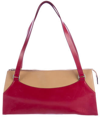 Miu Miu Miu Miu Bicolor Leather Shoulder Bag