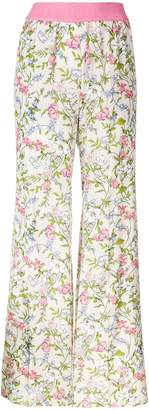 Twin-Set floral flared trousers
