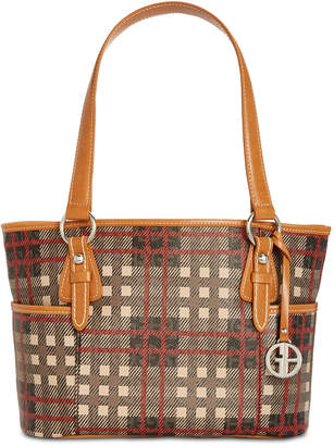 Giani Bernini Plaid Block Signature Tote
