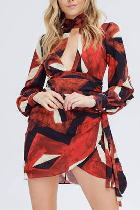 Venti 6 Red Geometric Dress