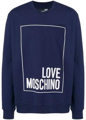 Love Moschino printed logo sweatshirt
