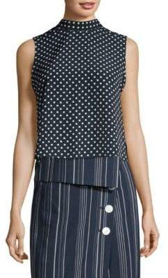 Robert Rodriguez Ruffle Dot Top