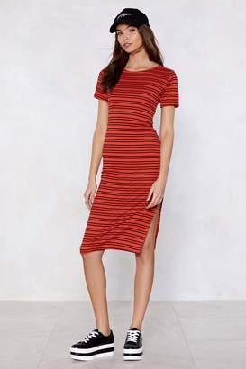 Nasty Gal Split Your Sides Striped Dress
