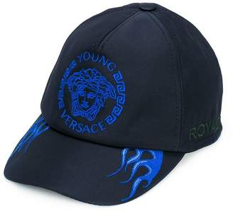 Versace logo embroidered cap