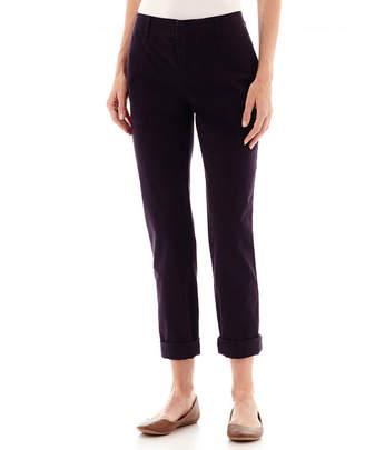 Liz Claiborne Roll-Cuff Twill Pants