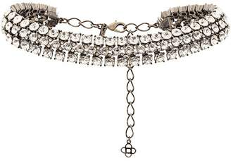 Oscar de la Renta crystal cluster necklace
