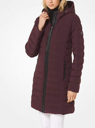 Michael Kors Stretch-Nylon Packable Puffer