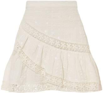 LoveShackFancy Piper Lace Mini Skirt
