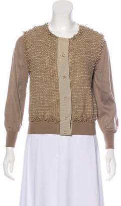 Missoni Fringe Trim Silk Cardigan