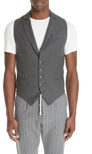 Eleventy Trim Fit Stretch Wool Vest
