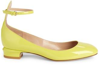 Stuart Weitzman Valentino Garavani Ankle-Strap Patent Leather Pumps