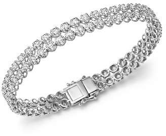 Bloomingdale's Diamond Two Row Tennis Bracelet in 14K White Gold, 4.0 ct. t.w - 100% Exclusive