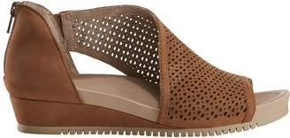 Earth Leather Wedge Sandals - Ficus Capricorn