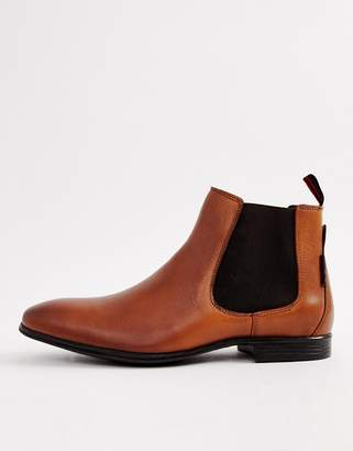 Ben Sherman Leather Chelsea Boot in Tan